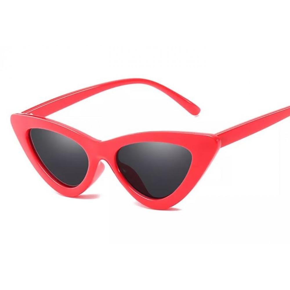 2592362771 Γυαλιά Ηλίου Γυναικεία Retro Κόκκινα Με Γκρι Φακούς